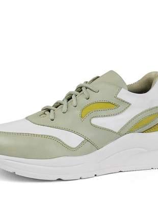 Tênis dad sneaker sapatofran confortável em couro ref 3700