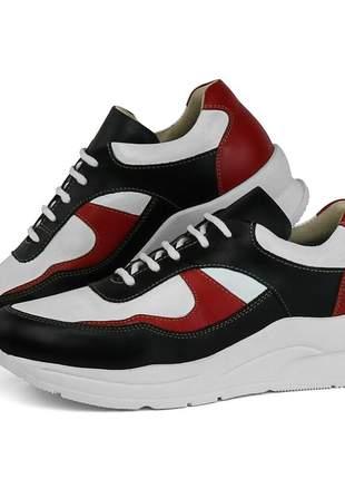 Tênis dad sneaker sapatofran chunky em couro ref 3702
