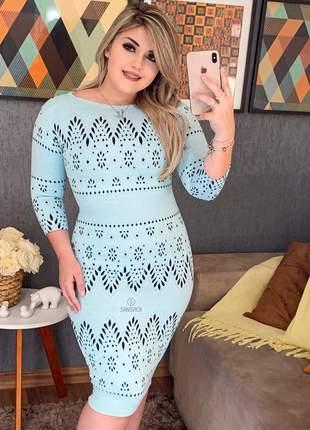 Vestido jacquard gelo moda feminina evangélica 2019