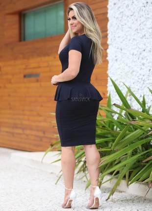 Vestido estilo peplum moda evangélica feminina