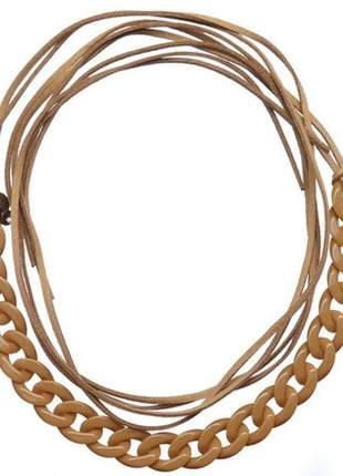 Choker-pulseira-headband multifuncional