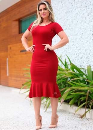Vestido tubinho vermelho modelador