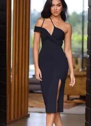 Vestido de casamento preto liso social ref 659