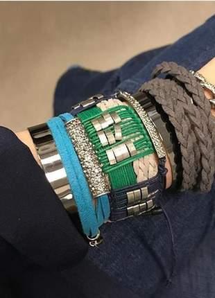 Bracelete macramê glam