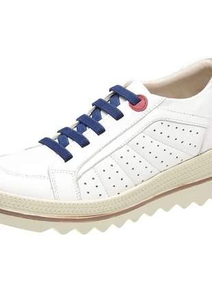 Tenis feminino em couro 3917 branco