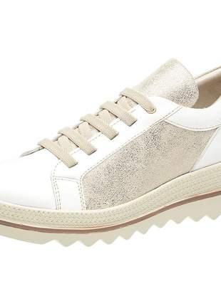 Tenis feminino em couro 3920 branco