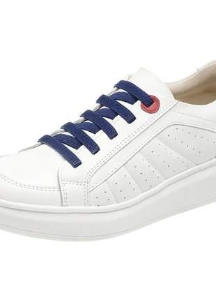Tenis feminino em couro 3100 branco