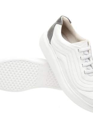 Tenis feminino em couro 3101 branco