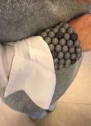 Kit de pulseiras bolas com cristal cz
