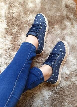 Tênis casual feminino jeans