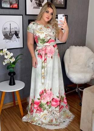 Vestido longo festa casamento flores