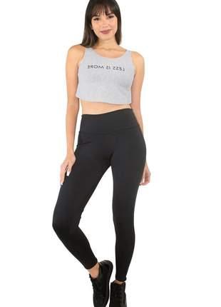 Conjunto fitness calça legging lisa e cropped estampado ref: cjn02