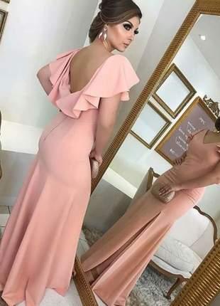 Vestido rose para madrinha