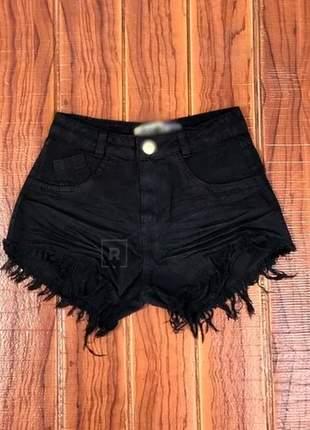 Shorts jeans cintura alta promoção