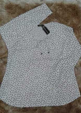 Camisa amarração decote punho