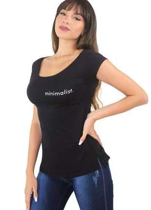 "Blusa t-shirt feminina estampada ""minimalist"""