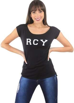 """Blusa t-shirt feminina estampada """"rcy"""""""