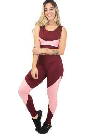 Conjunto calça legging e cropped candy