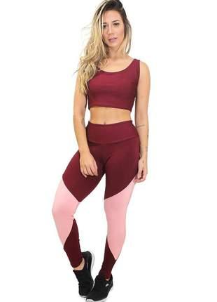 Conjunto calça legging e cropped powermax