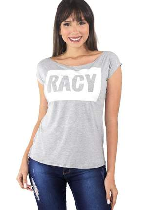 "Blusa t-shirt feminina estampada ""racy"""