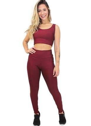 Conjunto calça legging e cropped basic