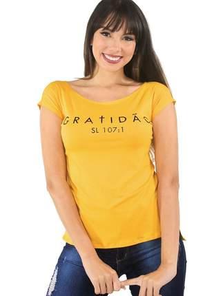 """Blusa t-shirt feminina estampada """"gratidão"""""""