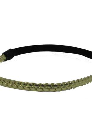 Headband trança dourada