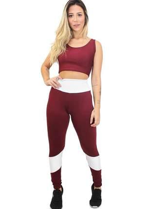 Conjunto calça legging e cropped hot&serious