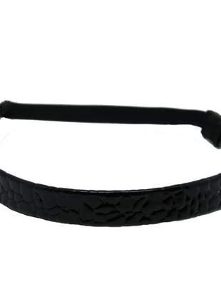 Headband de verniz preto