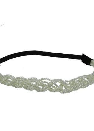 Headband de perola romântico