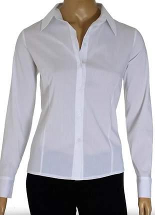 Camisete camisa social feminina m/longa