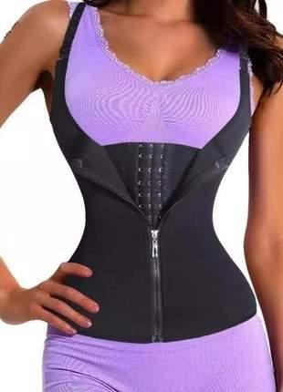 Kit com 3 cinta ajustável modeladora colete abdominal feminina