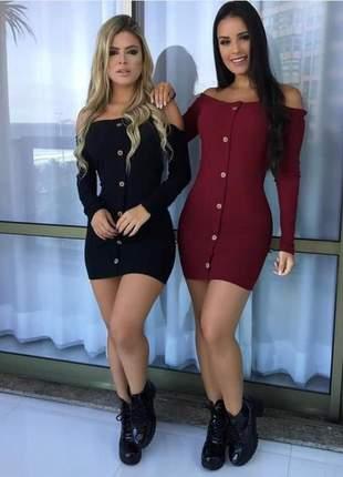 Vestido curto com manga
