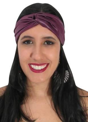 Turbante feminino acetinado violeta