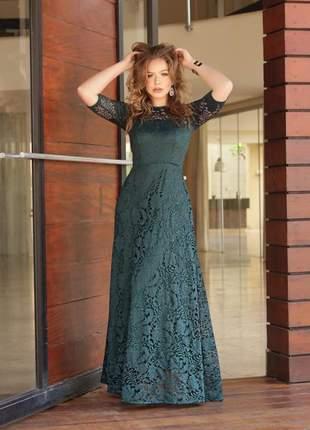 Sob encomenda- leia a descrição- vestido longo verde