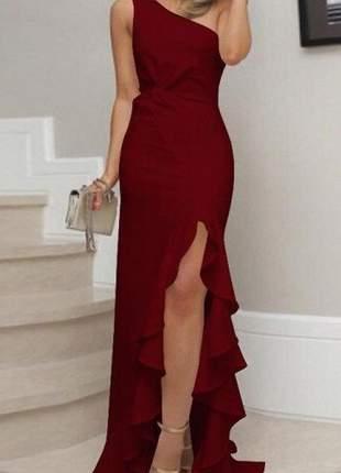 Vestido longo moda festa