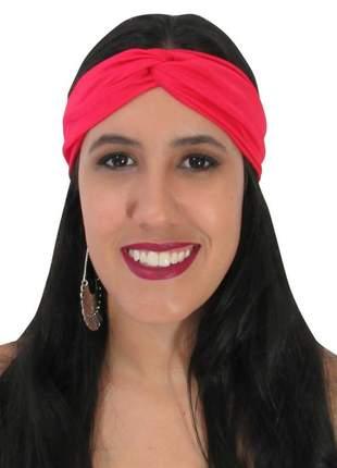 Turbante feminino vermelho