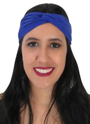 Turbante feminino azul