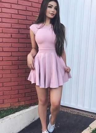 Vestido curto rodado moda festa