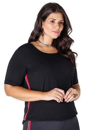7739- t-shirt plus size em malha