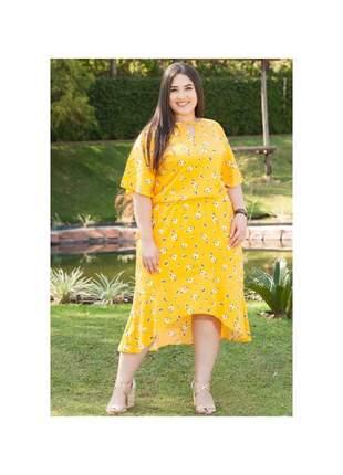 7785- vestido plus size floral