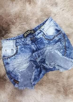 Short jeans cintura alta plus size promoção verão