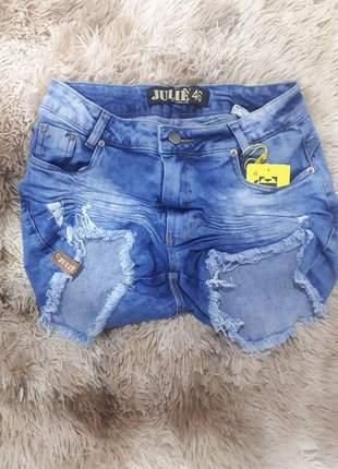 Shorts jeans cintura alta plus size promoção verão