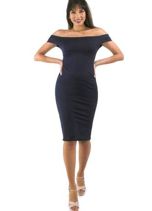 Vestido midi tubinho alça dupla festa moda blogueira 2020