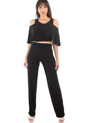 Conjunto cropped e calça legging feminina moda verão 2020