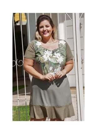 7784- vestido plus size estampa floral