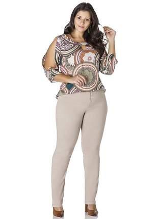 6675- calça plus size básica