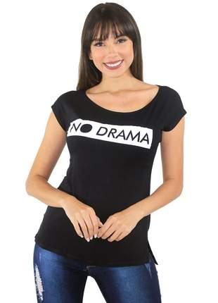Blusa feminina t-shirt estampada blusinha feminina no drama