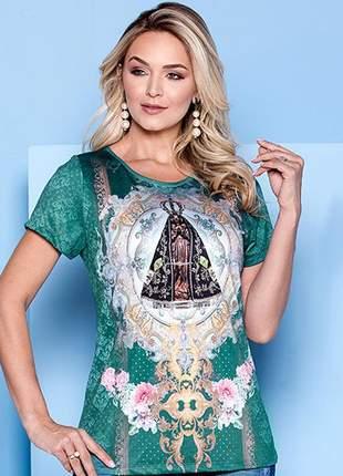 Blusa nossa senhora aparecida - coleção ágape