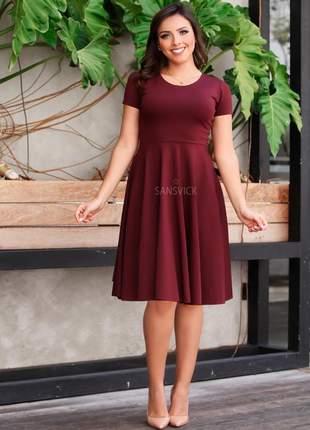 Vestido princesa soltinho rodado moda evangélica